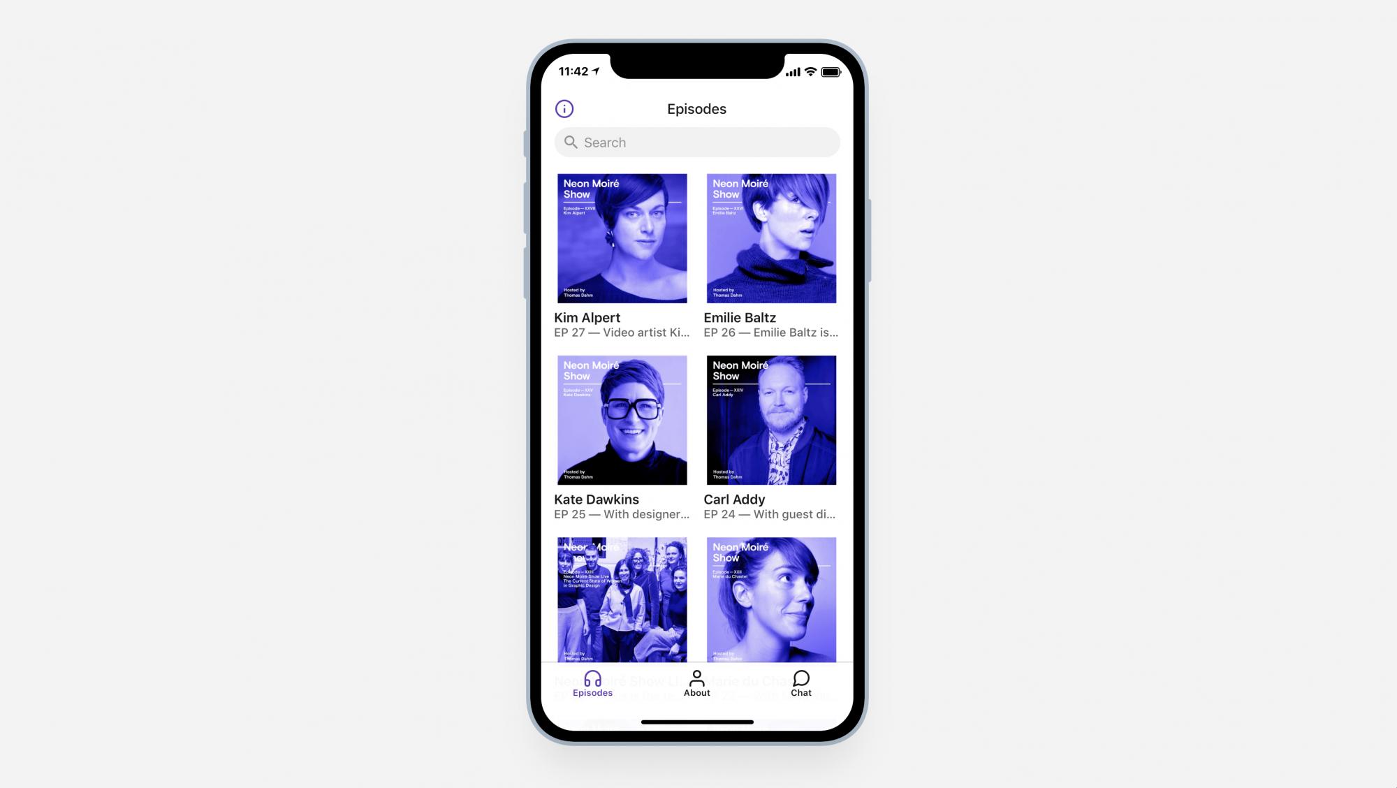 App Di Design made with glide | thomas dahm